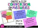 Cartes à clip - Conversion de mesures
