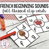 Cartes à clip - le son initial Automne (FRENCH Fall Beginning Sound Clip Cards)