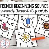 Cartes à clip - le son initial Été (FRENCH Summer Beginning Sound Clip Cards)