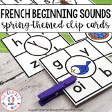 Cartes à clip - son initial Printemps (FRENCH Spring Beginning Sound Clip Cards)