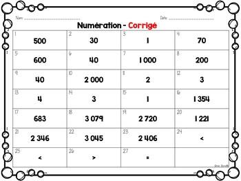 Cartes à pinces - Numération