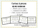 Cartes à pinces - Méli-mélo mathématique
