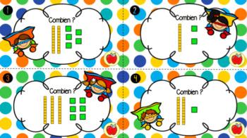 Cartes à tâche - La représentation des nombres