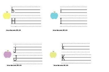 Cartes à tâche calligraphie (alphabet complet) /Alphabet task cards