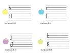 Cartes à tâche calligraphie (alphabet complet) /Alphabet t
