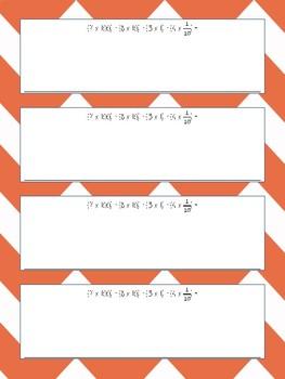 Cartes à tâche - mathématique - 3e cycle