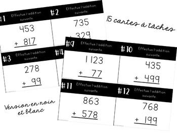 Cartes à tâches - 2e cycle - Additions avec retenue