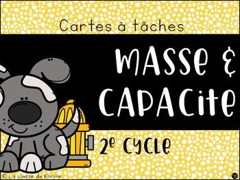 Cartes à tâches - 2e cycle - Masse et capacité