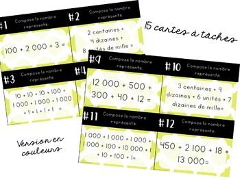 Cartes à tâches - 2e cycle - Recomposition de nombres