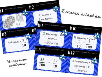 Cartes à tâches - 2e cycle - Recomposition de nombres décimaux