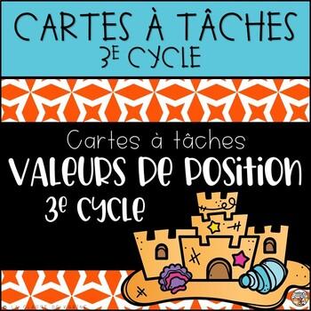 Cartes à tâches - 3e cycle - Valeur de position