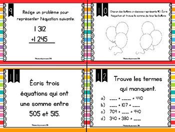 Cartes à tâches: Additions et soustractions
