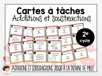 Cartes à tâches: Additions et soustractions