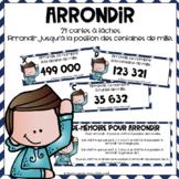 Cartes à tâches Arrondir 5e année // French Task Cards Rounding