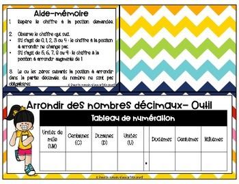 Cartes à tâches Arrondir des nombres décimaux // French task cards MATH