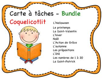 Cartes à tâches - BUNDLE - Seasons and Holidays