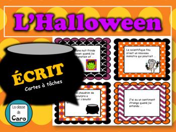 Cartes à tâches - ÉCRIT - Halloween - Débuts de phrases