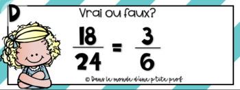 Cartes à tâches : Fractions équivalentes // French Task Cards