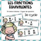 Cartes à tâches : Fractions équivalentes // French Task Cards