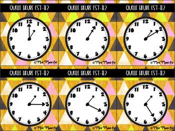 Cartes à tâches - Heure (Hour Task Cards)