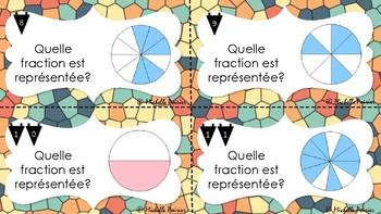 Cartes à tâches - Identifier des fractions