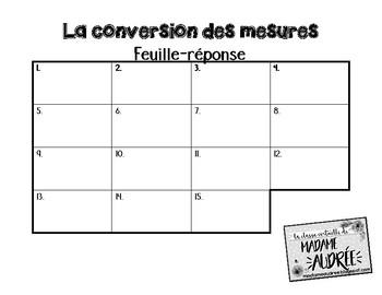 Cartes à tâches - La conversion des mesures (Mathématiques)