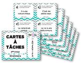 Cartes à tâches - Les adjectifs