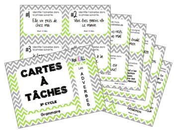 Cartes à tâches - Les adverbes