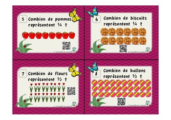 Cartes à tâches : Les fractions avec code QR