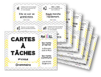 Cartes à tâches - Les noms propres et les noms communs