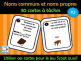 Cartes à tâches - Les noms propres et noms communs (French FSL)