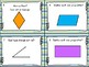 Cartes à tâches: Les quadrilatères, les angles et les lignes