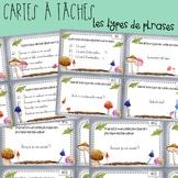 Cartes à tâches - Les types de phrases
