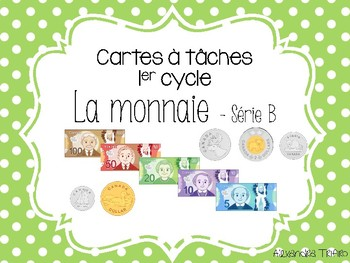 Cartes à tâches - Monnaie canadienne série B