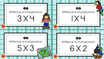 Cartes à tâches - Multiplication 1