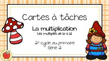 Cartes à tâches - Multiplication 2
