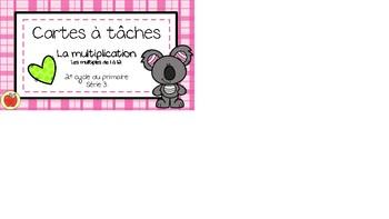 Cartes à tâches - Multiplication 3