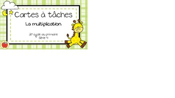 Cartes à tâches - Multiplication 4