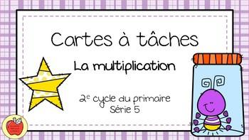Cartes à tâches - Multiplication 5