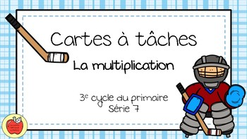 Cartes à tâches - Multiplication 7