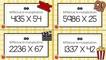 Cartes à tâches - Multiplication 8