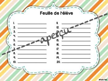 Cartes à tâches - Nommer et écrire des nombres