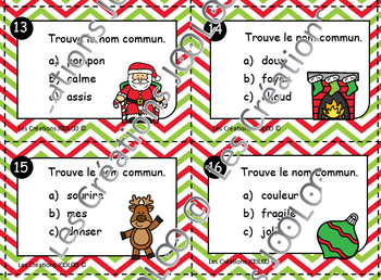 Cartes à tâches - Noms communs - Noel