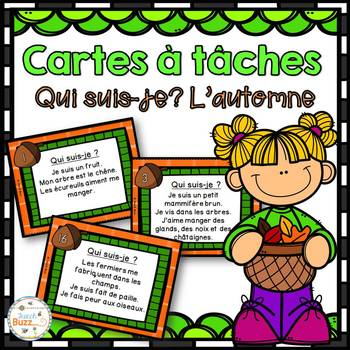 Automne - Cartes à tâches - Qui suis-je? - French Fall Task Cards