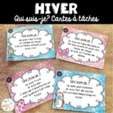 Hiver - Cartes à tâches - Qui suis-je? French Winter Task Cards