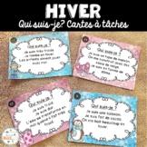 Hiver - Cartes à tâches - Qui suis-je? French Winter Task Cards