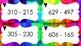 Cartes à tâches - Soustractions 0 à 999 avec et sans emprunts
