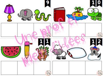 Cartes à tâches - Trouve les mots - 3 lettres - 1re année