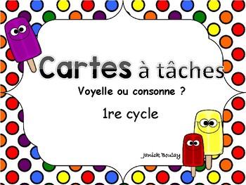 Cartes à tâches Voyelles ou Consonnes