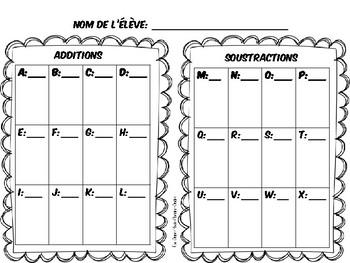 Cartes à tâches - additions et soustractions à deux chiffres - sans échange